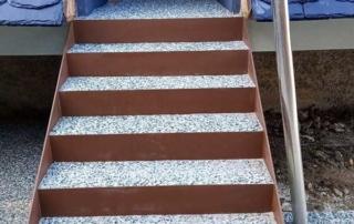 pavimento in cemento e graniglia