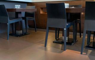 pavimento in resina spatolata per interni