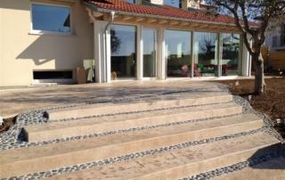pavimenti in cemento stampato per esterni
