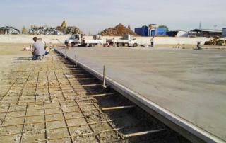 Pavimentazione industriale in calcestruzzo